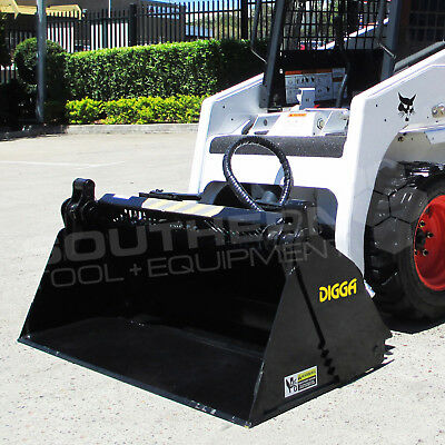 DIGGA 1550mm Skid Steer 4 in 1 Bucket Asv Caterpillar Kubota Toyota Jcb Bobcat