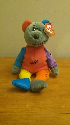 2001 TY BEANIE BABY Frankenteddy the Halloween Bear Toy Collectible Plush