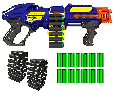 Gun Zombie Blaster Strike Rapid Fire Foam Soft Darts Nerf Kids Enjoy Fun Toy