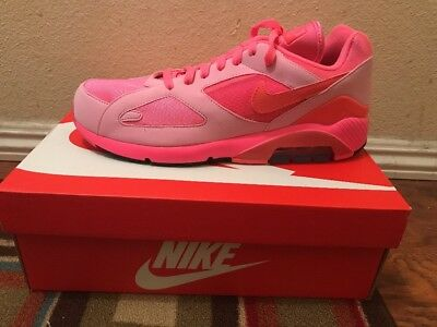 NIKE AIR MAX 180 CDG Laser Pink Solar Red 11 AO4641-602 Comme des ... fdcd30e89352