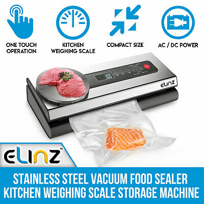 Stainless Steel Food Vacuum Sealer Bags Packaging Saver Kitchen Weighing Scale