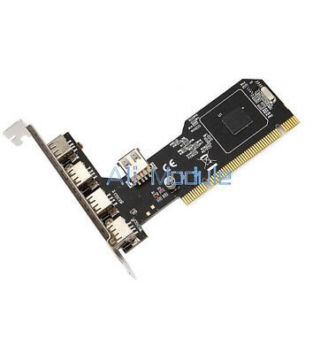 High Speed 480Mbps 5 Port USB 2.0 PCI Hub Card Controller Adaptor Module am