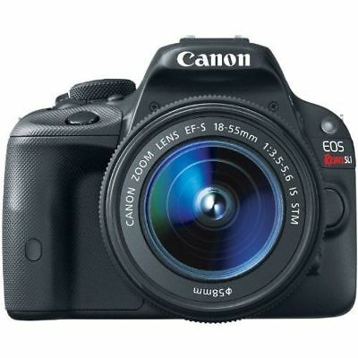 Canon EOS Rebel SL1 DSLR Camera 18-55mm Lens Kit Black 8575B003