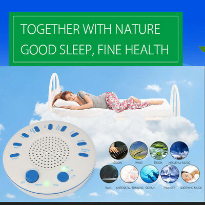 Sleep Sound Machine Therapy White Noise Night Sleeping Aid Timer 9 Relax Sounds