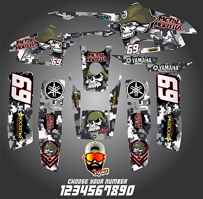 YAMAHA WARRIOR 350 full graphics kit DECALS STICKERS