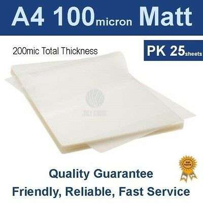 A4 Laminating Pouches Film 100 Micron Matt (PK 25)