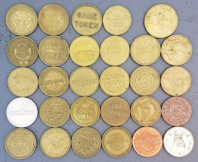 Arcade Tokens Lot of 29 All Different