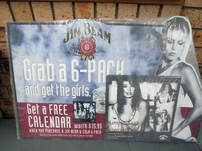 Jim Beam Corflute Sign & Matching Calendar Still Sealed