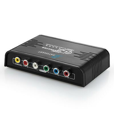 HDMI to 1080P Component Video (YPbPr) Scaler Converter Adapter with Coaxial