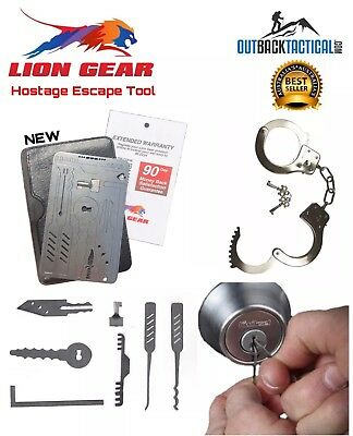 EDC 7 In1 Hostage Escape Unlocking / Locksmith/ Survival Lock Pick Tool