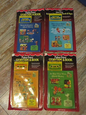 Vintage 1984 Fisher Price Charlie Brown Story Book Cassette Tape Lot of 4