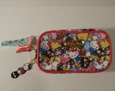 Hello Kitty Sanrio Make-Up Bag  Zip Pouch Loot Crate NEW