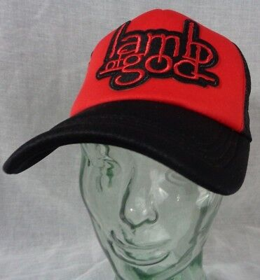 lamb of god hat trucker mesh snapback heavy metal gift for dad