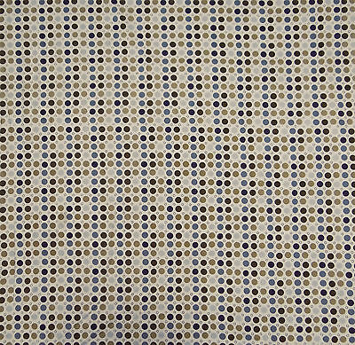 "White Cotton Polka Dot Printed Indian Designer 40"" Fabric By The Yard"