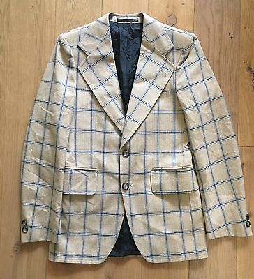 Vintage Mens Blazer Size 36 Window Pane Pattern