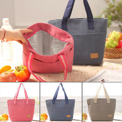 Women Insulated Tote Canvas Thermal Lunch Bags Available in 3 Colors Carry