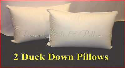 2 X King Size Pillows- 100% Duck Feather - Australian Made