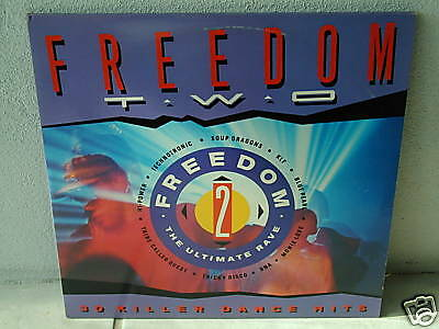 """****FREEDOM TWO-The Ultimate Rave-12""""Inch Double LP****"""