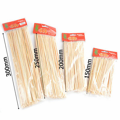 Wooden Bamboo BBQ Sticks Skewers Fountain Party Buffet Food Meat Fruit Vegetable