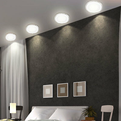 4er set led design wand einbau lampen wohn zimmer decken leuchten akzent spots eur 64 90. Black Bedroom Furniture Sets. Home Design Ideas