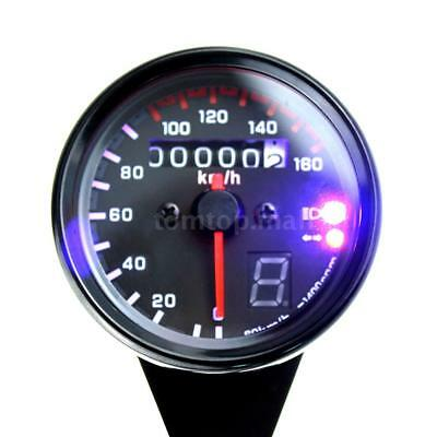For Motocycle 12V Universal Speedometer Tachometer Gauge With Led Backlight N7A7