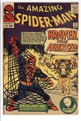 Amazing Spider-Man #15 Vol 1 Super High Grade 1st App of Kraven the Hunter