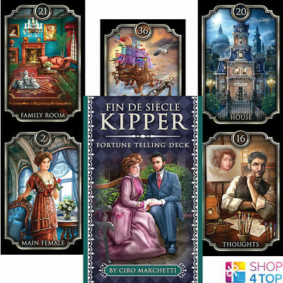 Fin De Siècle Kipper Oracle Cards Deck Ciro Marchetti Esoteric Us Games New