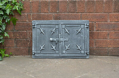 47.2 x 32 cm cast iron fire door clay / bread oven doors pizza stove fireplace
