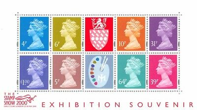 GB Stamp Show 2000, Miniature Sheet - MS 2146, Exhibition Souvenir - MNH
