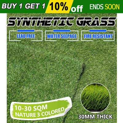 10-30SQM 30mm Synthetic Turf Artificial Grass Plastic Plant Fake Lawn Lead Free