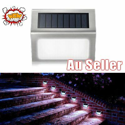 Outdoor LED Garden Lamp Waterproof Solar Powered Pathway Light Stair Step Lamp