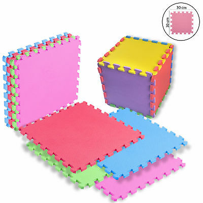 Large Kids Eva Interlocking Mats Multicoloured Children Playmat Safety Tiles Gym