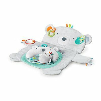 Bright Starts Tummy Time Prop & Play baby mat toys pillow mirror support babies