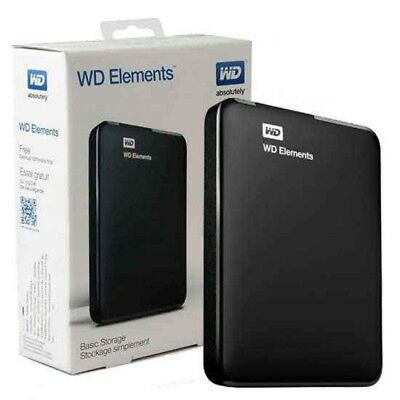 "Hard Disk Esterno 2,5"" Usb 3.0 4Tb 4000Gb Wd Western Digital Elements Portatile"