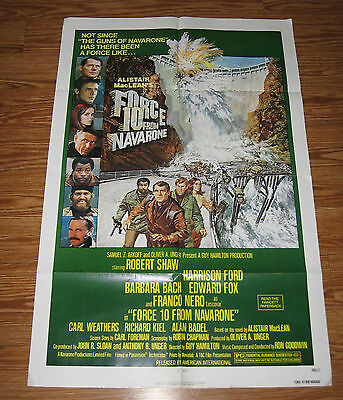Force 10 From Navarone / Orig. U.s. One-Sheet Movie Poster B (Harrison Ford)