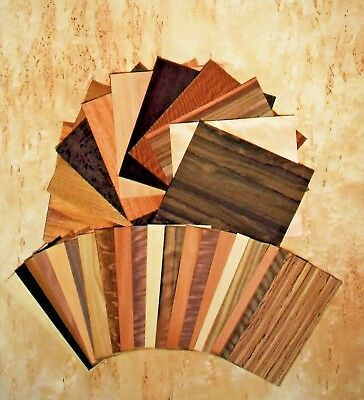"Wood Veneer variety pack 20 Sq.ft  With 30 to 40 pieces 6""X12"" and 12""X12"""