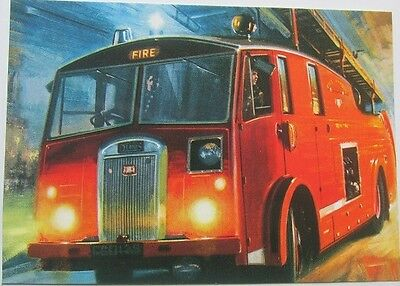 Pack of 7 New Vintage Ad Gallery Postcards: Dennis Fire Engine