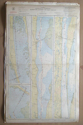 "Vtg 1949 C&GS Nautical CHART #844 INTRACOASTAL WATERWAY FL 24"" x 38.5"""