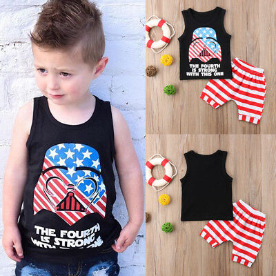 baby boys clothes summer sleeveless Tee+short pants kids boys outfits cartoon #c