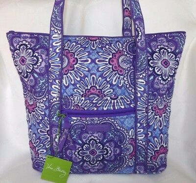 VERA BRADLEY Villager Tote Bag or Purse - LILAC TAPESTRY - Brand New with Tag