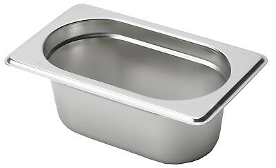 Gastronorm Container Pans  (1/9 Size Stainless Steel)