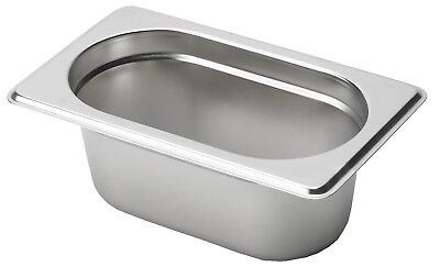 Gastronorm Container Pans  (One-Ninth Size Stainless Steel)