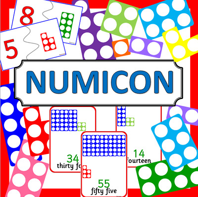 NUMICON style Maths teaching resources TO PRINT - EYFS, KS1, Numeracy