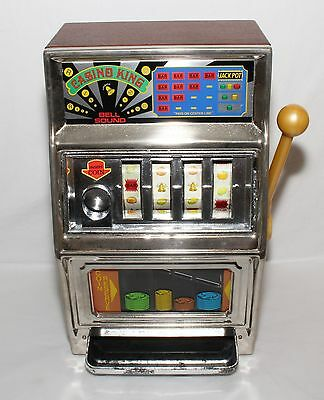 WACO Casino King Slot Machine Coin Bank with Bell Sounds