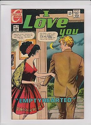 "I LOVE YOU #73 VF, Charlton 1968, sharp copy, ""Empty Hearted"", low cost"