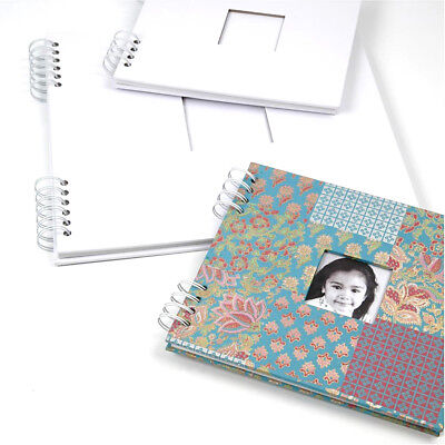Personalised Scrapbook Craftboard Cover Spiral Bound Photo Album Guest Book Gift