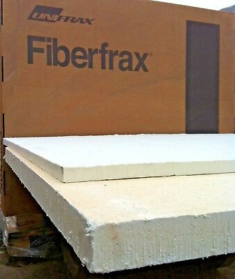 CERAMIC FIBRE INSULATION BOARD (70507) offcuts FIBERFRAX DURABOARD 120ZK 50mm
