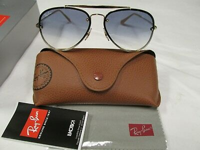 Ray-Ban Authentic New RB3584N 001/19 gold with gradient blue lens NEW ! !