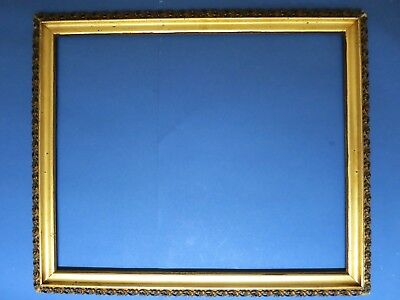 "19th Century Antique ~Fits 20.75 x 25.25~ Gold Gilt Wood Picture Frame 24"" x 29"""