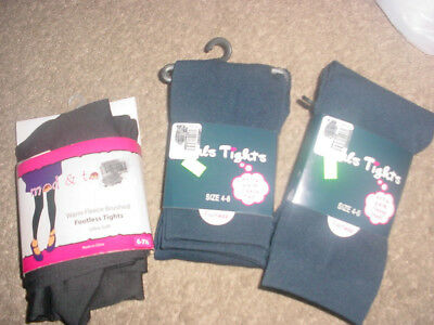 girls tights footless 2 pair 4-6 one pair 6-7 1/2 new